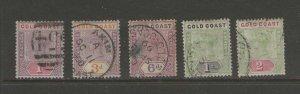 Gold Coast 1898 QV Sc 27,30-33 FU