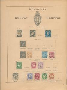 NORWAY 1850s/1930s Used Collection((Appx 130+Items) AC 1335