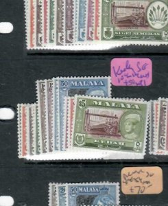 MALAYA KEDAH  (P0106B)     SET SG 104-14     MNH SET 1