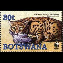 BOTSWANA 2005 - Scott# 806 WWF-Wild Cat 80t NH