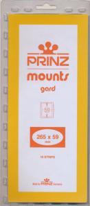 Prinz Scott Stamp Mount 59/265 BLACK Background Pack of 10