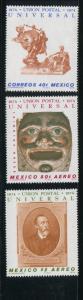 Mexico #1070,C437-8 MNH
