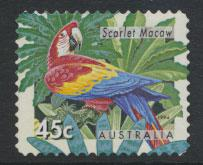 Australia SG 1485  Used  Parrot / Macaw - self adhesive