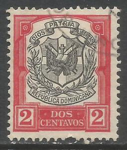 DOMINICAN REPUBLIC 180 VFU ARMS N618-1