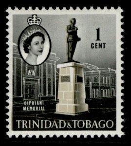 TRINIDAD & TOBAGO QEII SG284, 1c stone & black, NH MINT.