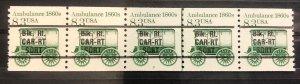 U.S. Sc. #2128a: 8.3c Ambulance PNC Strip of 5, MNH, Plate #3 GAP 1R