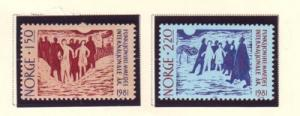 Norway Sc 790-1 1981 Disabled Year stamps mint NH