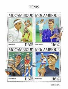 Z08 IMPERF MOZ190427a MOZAMBIQUE 2019 Tennis MNH ** Postfrisch