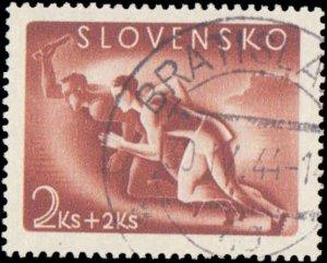 Slovakia #B21-B24, Complete Set(4), 1944, Sports, Used, CTO