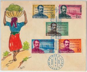 59783 -  HAITI - POSTAL HISTORY:  Handpainted FDC COVER  1960 -  MUSIC