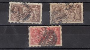 GB KGV 1934 2s 6d x 2 5/- SG450/451 Fine Used J3268