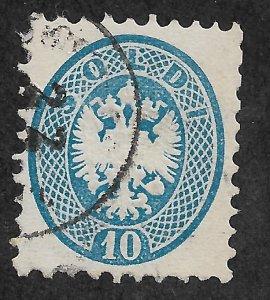 1864 LOMBARDY-VENETIA Sc23 Coat of Arms 10 Soldi used