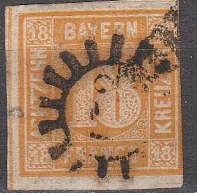 Bavaria #8 F-VF Used CV $190.00 (K1736)