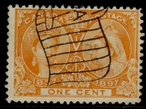 CANADA QV SG123, 1c orange-yellow, FINE USED. Cat £170.