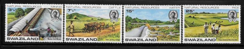 Swaziland 1973 Development of natural resources Coal mines Rice plantation MNH
