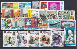 Qatar Mixture of stamps, mostly mint
