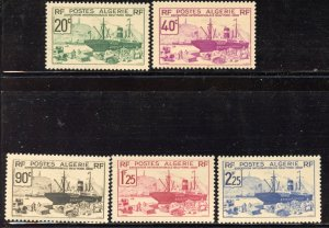 Algeria # 126-30, Mint Never Hinge. CV $ 23.90