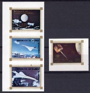 Equatorial Guinea 1976 Mi#832/835 Apollo-Soyuz-UIT-Concorde Set(4) IMPERF.MNH