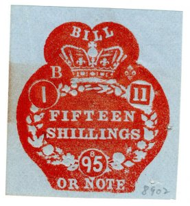 (I.B) QV Revenue : Bill or Note 15/- (Impressed Duty)