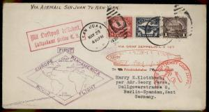 USA 1930 Graf Zeppelin Pan America SAN JAUN PUERTO RICO Si64 Cover 91380