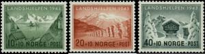 Norway Scott #B32-#B34 Complete Set of 3 Mint