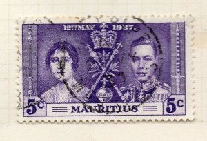 Mauritius 1948 GVI Early Issue Fine Used 5c. NW-90967