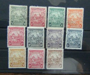 Barbados 1938 - 47 values to 5s MM or Used