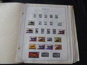 Burundi 1962-1977 Stamp Collection on Album Pages