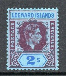 Leeward Islands 1938 KGVI 2/- chalk paper SG 111 mint CV £35