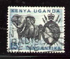 Elephants, Kenya, Uganda, Tanzania stamp SC#105 used