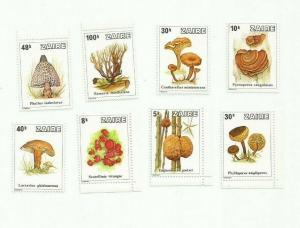 ZAIRE 1979 mushrooms SCOTT 910-7 MNH SCV $17