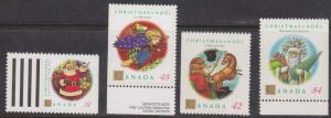 Canada USC #1452a-1455 Mint VF-NH 1992 Christmas Personages