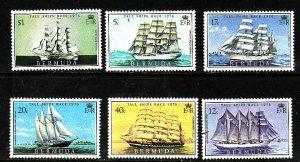 Bermuda-Sc #337-42-unused NH set-Sailing-Tall Ships-1976-