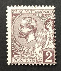 Monaco 1891  #12, Albert I, Unused/MH.