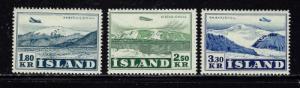 Iceland C27-29 Hinged 1952 set