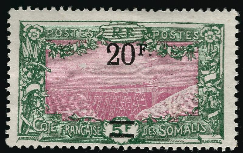 Somali Coast Sc #134 F-VF Mint OG hr French Colonies are Hot!
