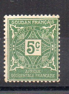 FRENCH SUDAN - FRENCH COLONIAL - 5 - POSTAGE DUE - 1931 -