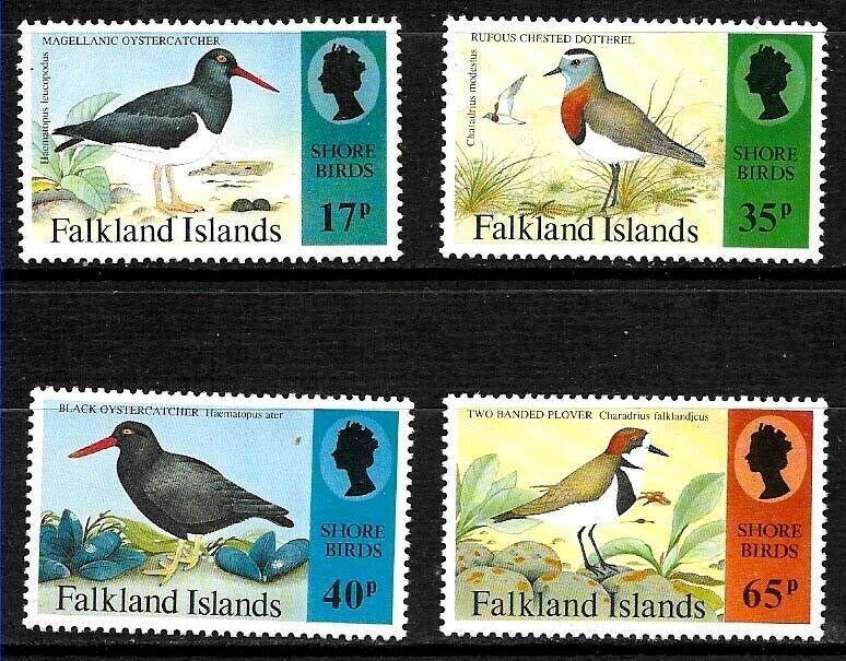 #1805 MALVINAS FALKLAND ANTARCTICA 1995 FAUNA BIRDS YV 650-53 MNH
