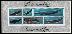 South West Africa SWA 1980 - Whales  MNH Sheet  # 442a