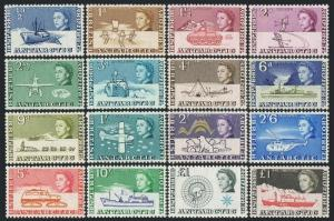 Br Antarctic Territory 1-15,24,MNH. Antarctic Expedition.1963/1969.Ships,Plane,