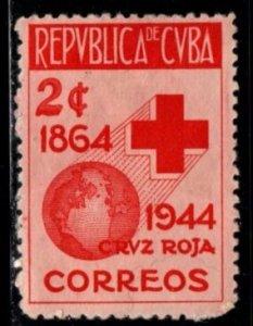 Cuba - #404 Red Cross - MH