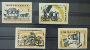 Match Box Labels ! industry science car cars train horse astronomy prague GN30