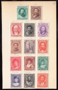 HAWAII #30P3 // 49P4 (14) DIFF. MOUNTED ON SMALL CARDS EX-GREEN WL4525A GPC17D