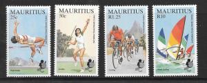 MAURITIUS SG704/7 1985 INDIAN OCEAN ISLANDS GAMES MNH