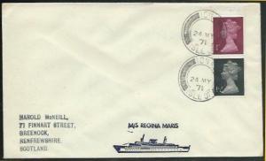 GB SCOTLAND 1971 Regina Maris ship cover - IONA / ISLE OF cds.........38108