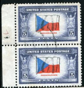 United States - SC #910 - USED PAIR - 1943 - Item USA1011