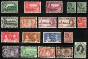 Montserrat ~ Group of 19 Different Stamps ~ Mostly Unused, MX