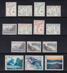 Faroe Islands  #7-20  MNH  1975   definitive set