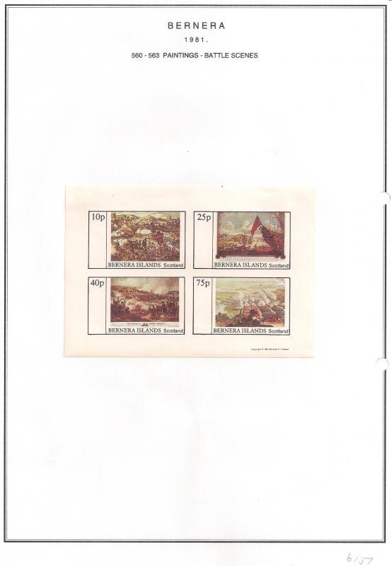 SCOTLAND - BERNERA - 1981 -Battle Scene - 4v Imperf Sheet - MLH