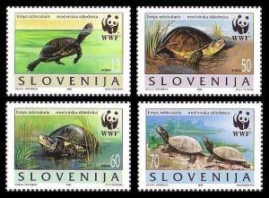 Slovenia WWF European Pond Tortoise 4v SG#279-282 MI#131-134 SC#247 a-d